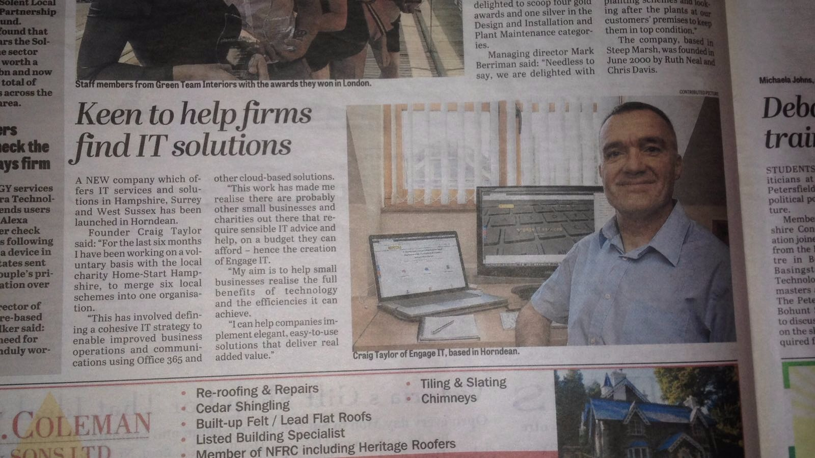 Engage IT featured in the Petersfield Post