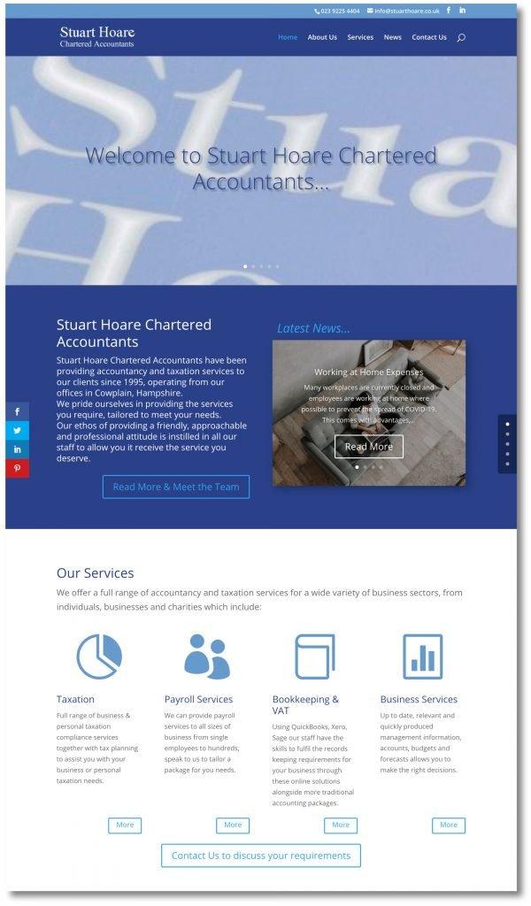 Stuart Hoare New Website