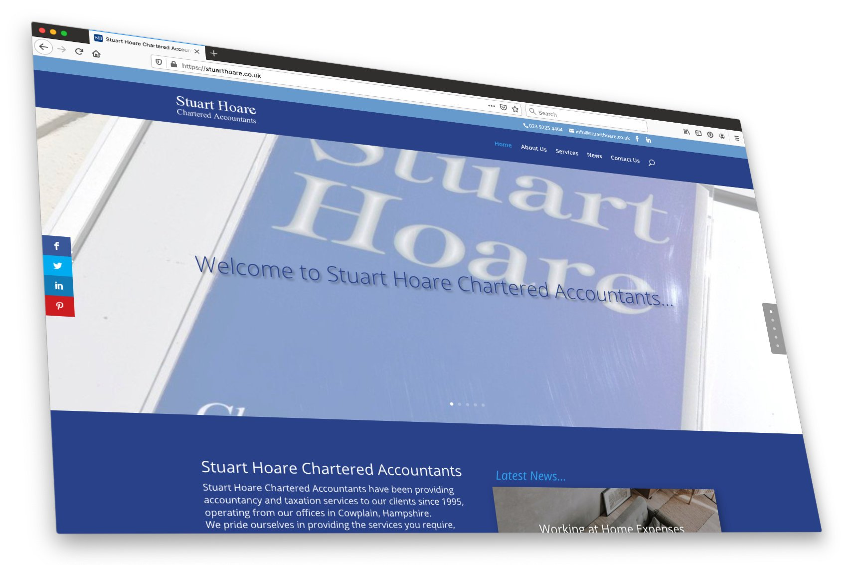 Stuart Hoare New Website launched