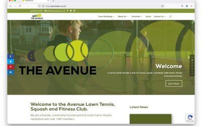 The Avenue Tennis New Website launched