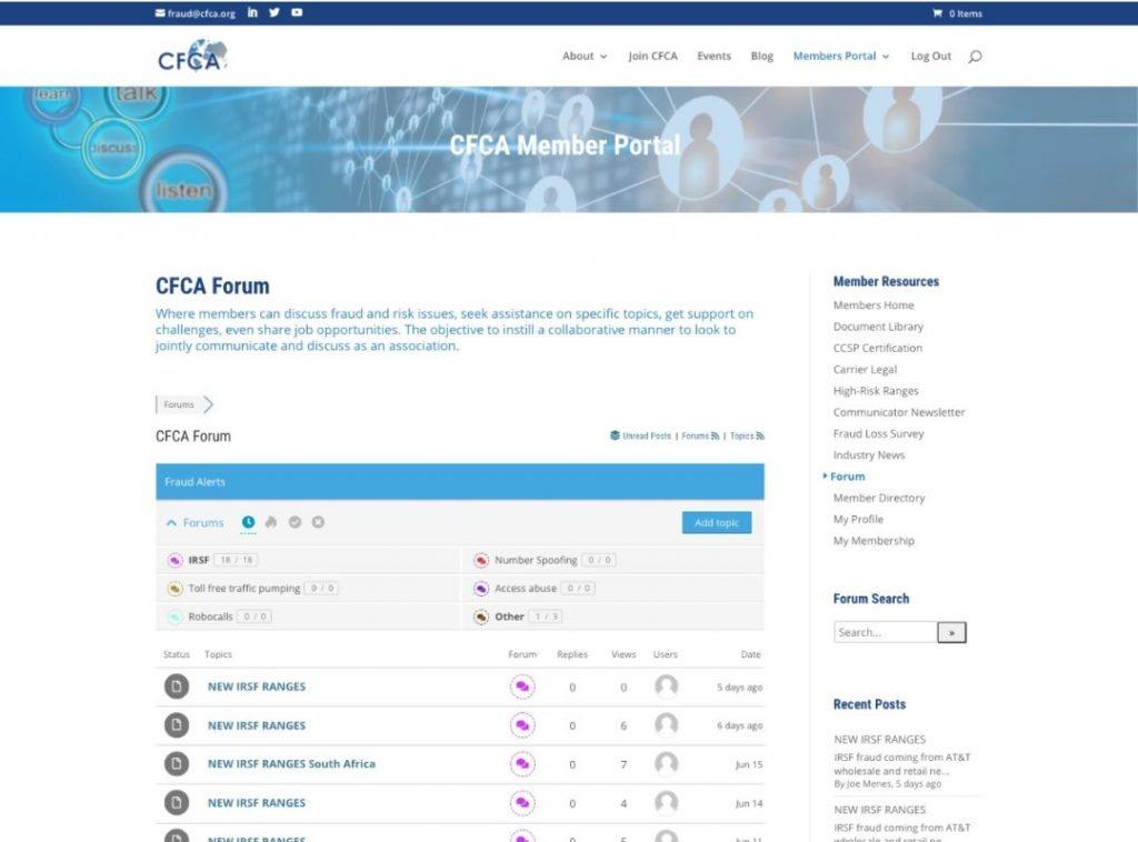 CFCA Member Forum